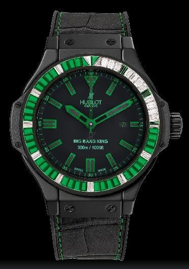 Big Bang King All Black Green Carat 322.CI.1190.GR.1923.ABG11