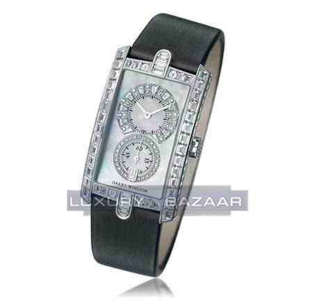Harry Winston Avenue C Midsize (WG- Baguette Diamonds / MOP- Diamonds/ Satin)