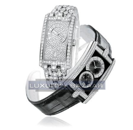 Harry Winston Avenue C Midsize (WG- Paved Diamonds / White- Paved Diamonds/ WG-Paved Diamonds)