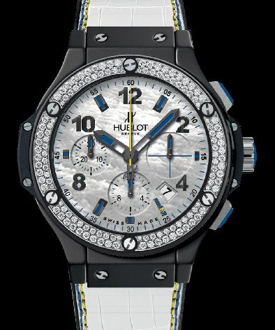 Big Bang AmFAR Diamonds (Ceramic-Steel-Diamonds / MOP / Rubber-Alligator Strap)