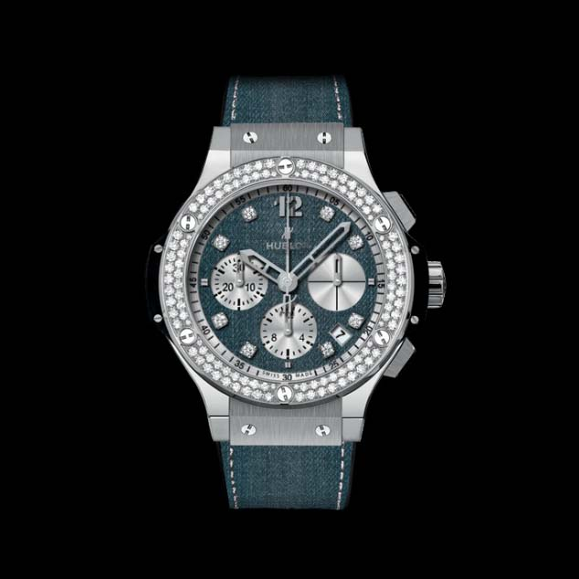 Big Bang Jeans Diamonds 41mm 341.SX.2710.NR.1104.JEANS