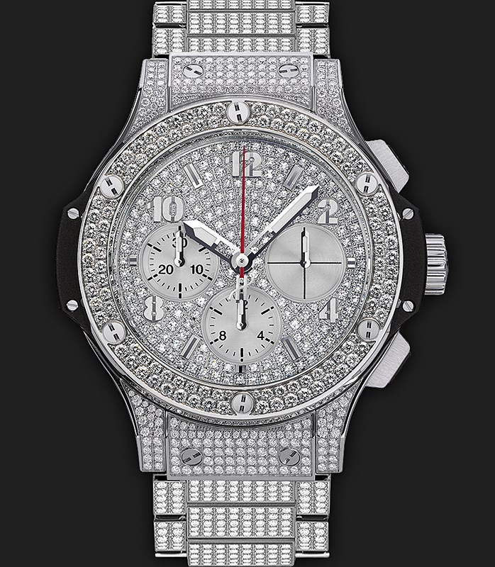 Big Bang Steel Bracelet Full Pave 341.SX.9010.SX.3704