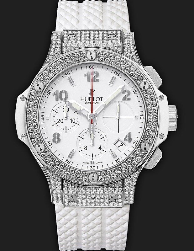 Big Bang Steel White Pave 342.SE.230.RW.174