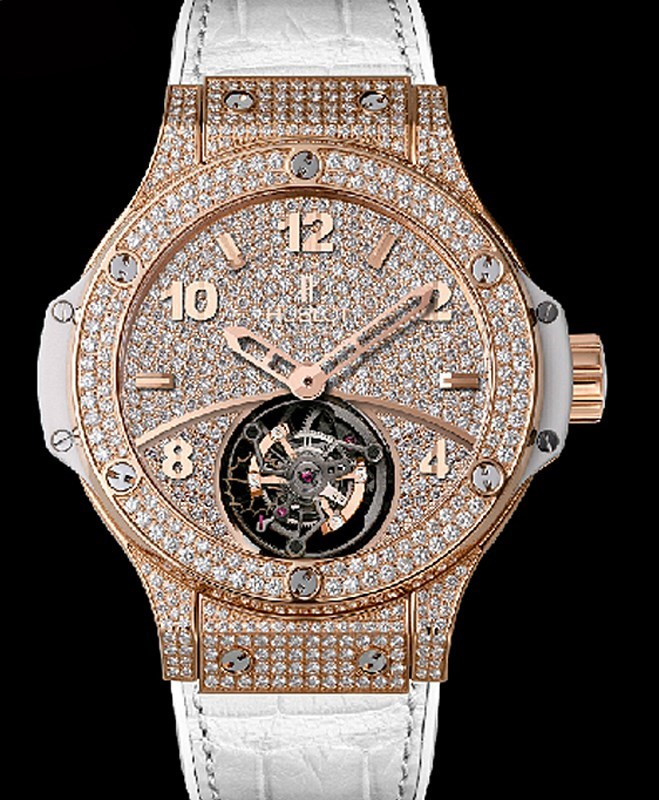 Big Bang Gold White Tourbillon Full Pave 345.PE.9010.LR.1704