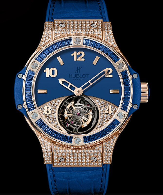 Big Bang Tutti Frutti Tourbillon Dark Blue Pave 345.PL.5190.LR.0901