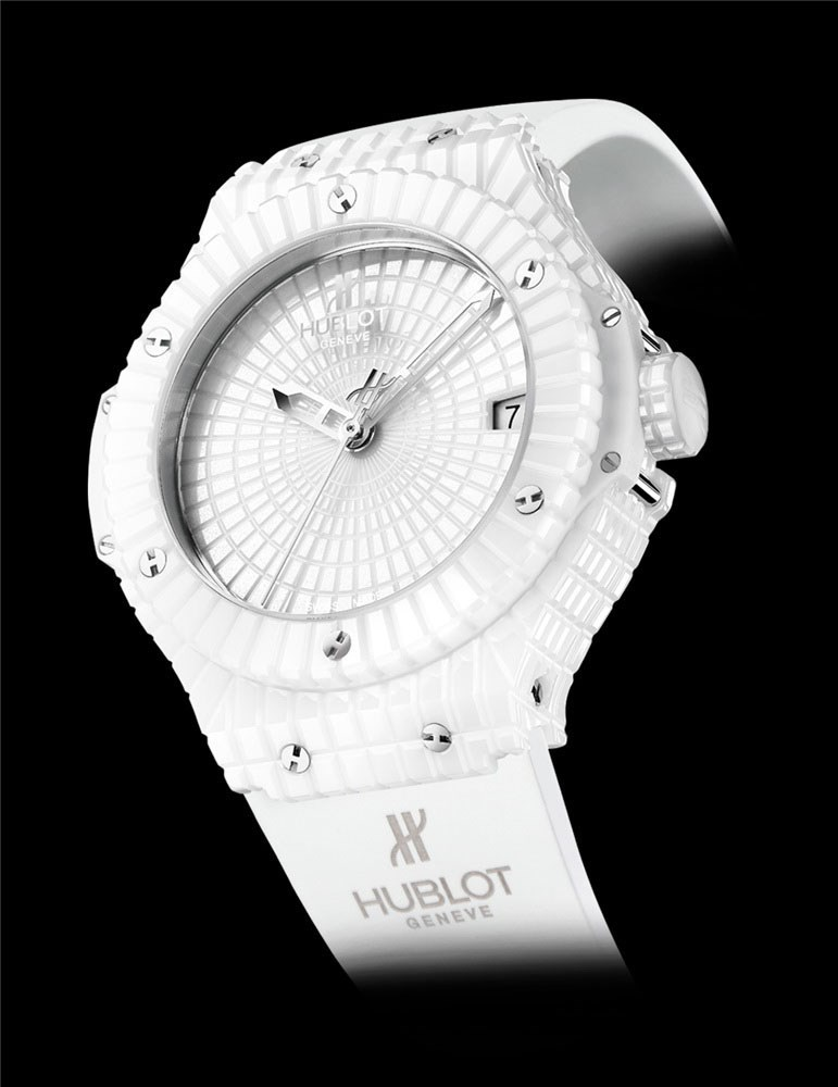 Big Bang White Caviar (Ceramic / White Ceramic / Rubber Strap)