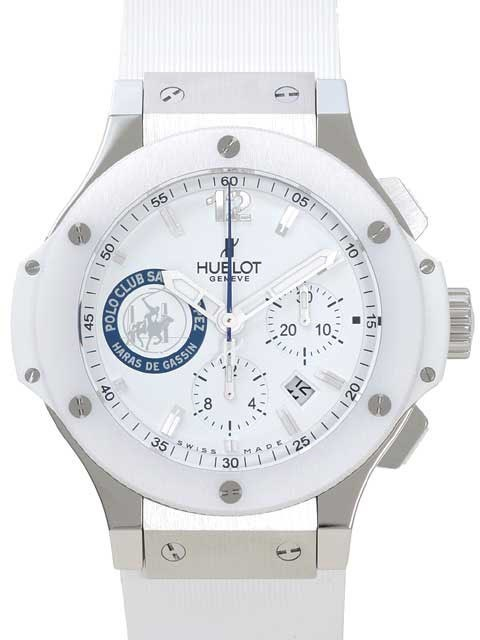 Big Bang Polo Club St Tropez (SS-Ceramic / White / Rubber)