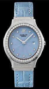 Jewelry 36mm (SS-Diamonds / Blue / Leather)
