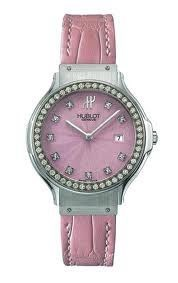 Jewelry 36mm (SS-Diamonds / Pink / Leather)
