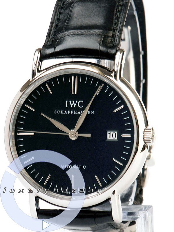 Portofino Automatic (SS / Black / Leather)