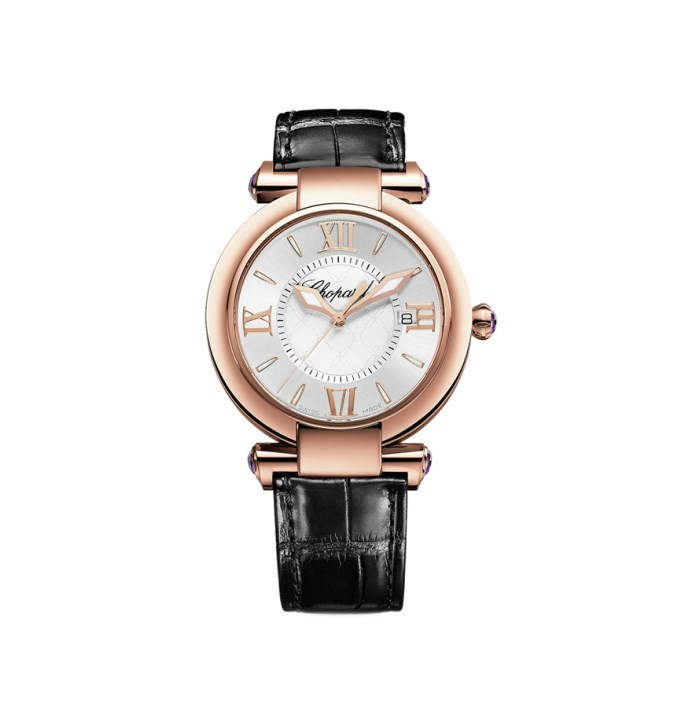 Imperiale Ladies (RG / Silver / Leather Strap)