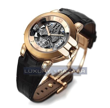 Harry Winston Westminster Tourbillon ( RG/ Leather)
