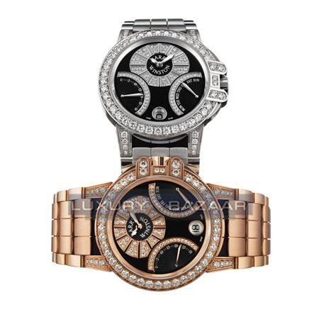 Harry Winston Ocean Biretro (RG/ Black-Diamonds/ RG)