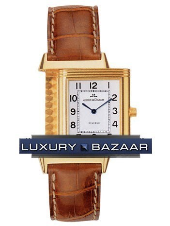 Reverso Classique Quartz (YG / Silver / Leather)