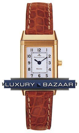 Reverso Lady (YG / White / Leather)