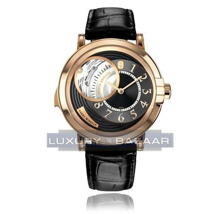 Harry Winston Midnight Minute Repeater ( RG / Black / Leather)