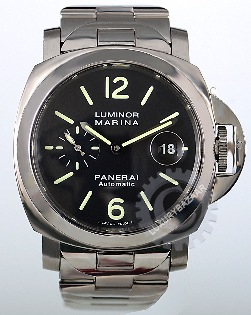 officine panerai panerai luminor marina automatic 44mm pam 00220 luxury bazaar www. Black Bedroom Furniture Sets. Home Design Ideas