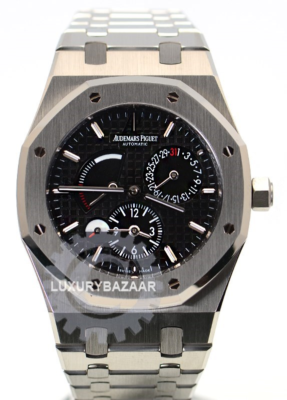 Royal Oak Dual Time Power Reserve 26120ST.OO.1220ST.03