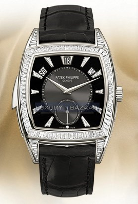 Grand Complication Reference 5033 (Platinum -Diamonds / Black-Diamonds / Leather Strap)