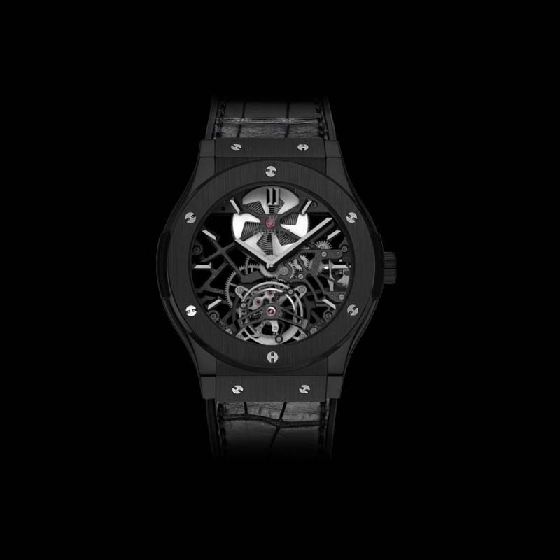 Classic Fusion Skeleton Tourbillon All Black 45mm 505.CM.0140.LR