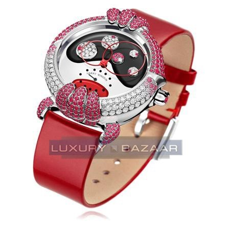 Harry Winston Diane ( WG- Rubies-Diamonds  / Rubies- Diamonds  / Satin)