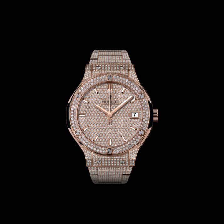 Classic Fusion King Gold Full Pavé 38mm 565.OX.9010.OX.3704