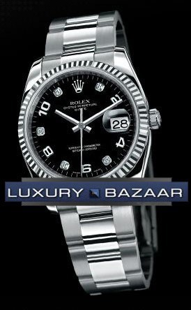 Date 34mm Fluted Bezel 115234 bkdo