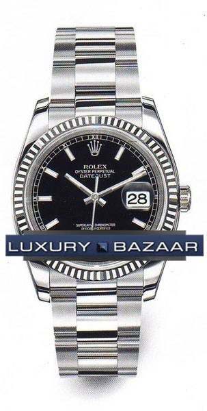 Oyster Perpetual Datejust 36mm Fluted Bezel 116234 bkso