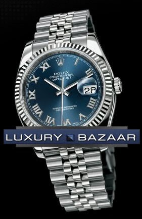 Oyster Perpetual Datejust 36mm Fluted Bezel 116234 blrj