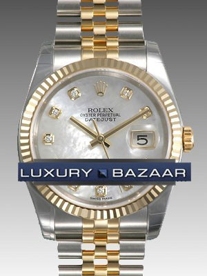 Oyster Perpetual Datejust 36mm Fluted Bezel 116233 mdj