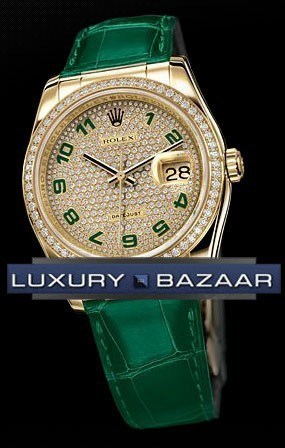 Datejust (YG-Diamonds / Diamonds-Green / Leather)