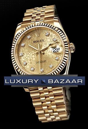 Datejust (YG-Fluted Bezel / Champagne Jubilee-Diamonds / YG)
