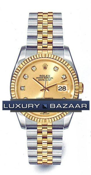 Oyster Perpetual Datejust 36mm Fluted Bezel 116233 chdj