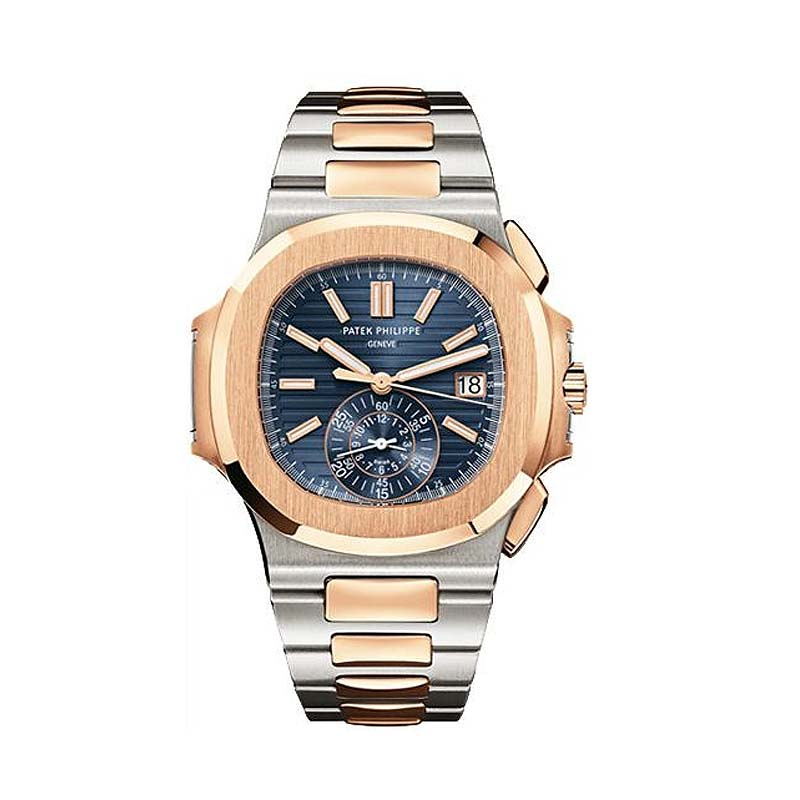Stainless Steel and Rose Gold Men Nautilus 5980/1AR-001
