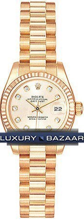 Datejust Lady Gold 26mm Fluted President 179175 chdp