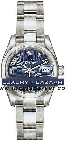 Datejust 179160 (Blue Circle Dial, Arabic Numeral Markers)