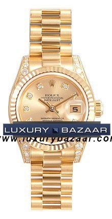Datejust Lady Gold 26mm Fluted President 179238 chdp