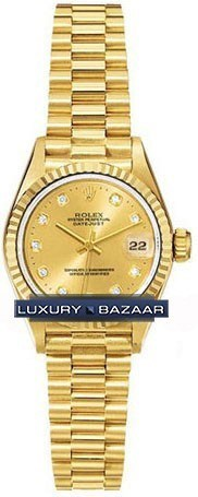 Datejust Lady Gold 26mm Fluted President 179178 chdp