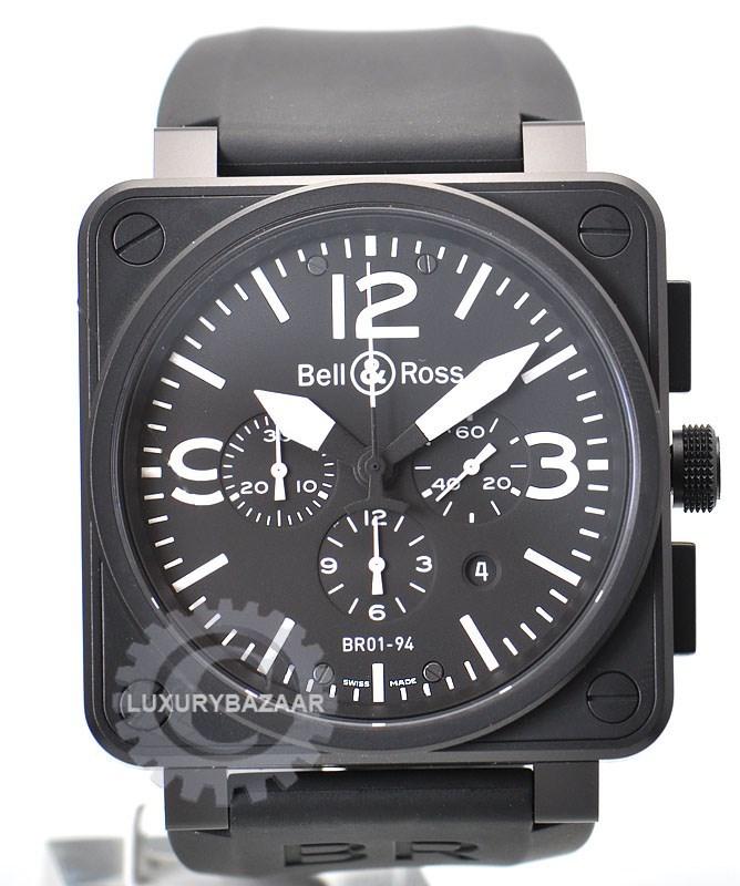 BR01-94 Chronograph Carbon White