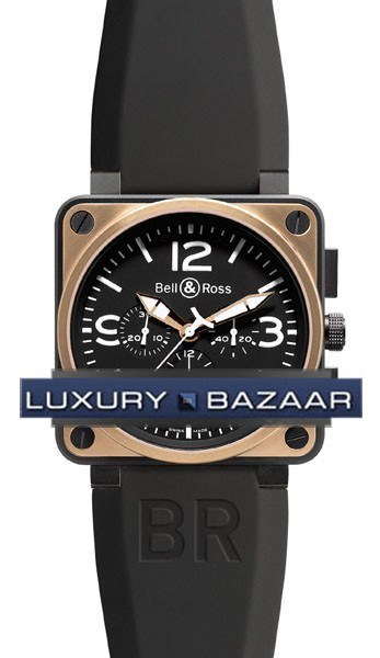 BR01-94 Chronograph Rose Gold & Carbon