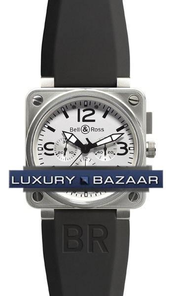 BR01-94 Chronograph White Steel