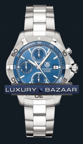Aquaracer Automatic Chronograph (SS / Blue / SS)
