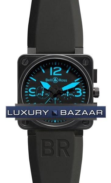 BR01-94 Chronograph Carbon Blue