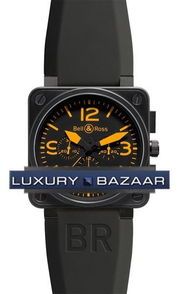 BR01-94 Chronograph Carbon Orange