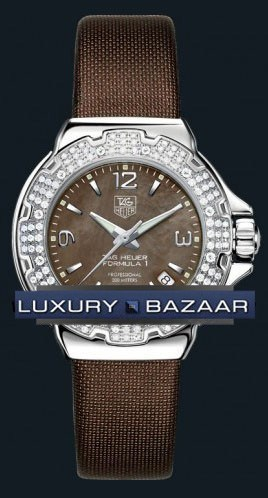 Formula 1 Glamour Diamonds (SS-Diamonds / Brown MOP / Strap)