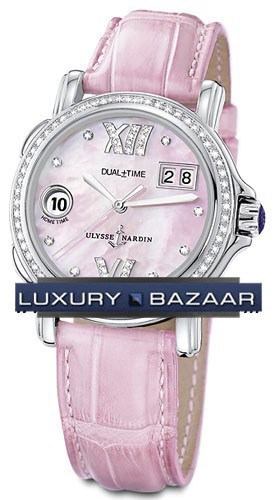 GMT± Big Date Ladies (Leather / Pink / Diamonds)