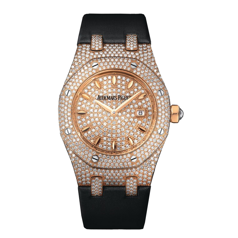 Royal Oak Lady Full Pave Quartz 33 mm 67625OR.ZZ.D009SU.01