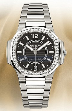 Ladies Automatic Nautilus ( SS-Diamonds / Black MOP / SS Bracelet)