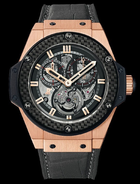 King Power Gold Minute Repeater Chrono Tourbillon (KG / Skeleton / Rubber Gummy Alligator Strap)