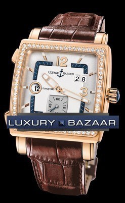 Quadrato Dual Time 42x42mm 246-92B/600